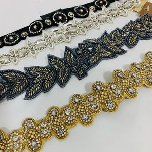 Francesca's Stretch Belt Rhinestone Bundle